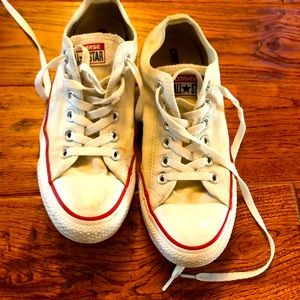 Classic white Converse chucks